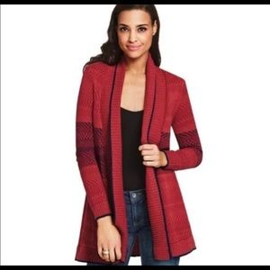 Cabi open front sweater cardigan